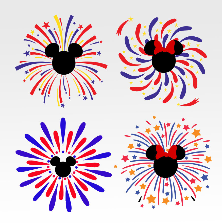 Fireworks clipart mickey mouse Mouse  Mickey vector This