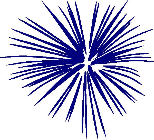Fireworks clipart navy blue Blue Clip Single Art Navy