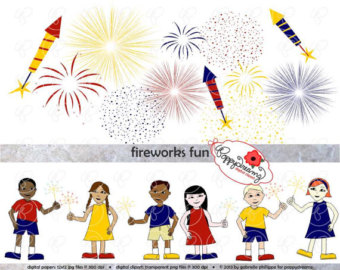 Fireworks clipart navy blue Independence Clip of July (300