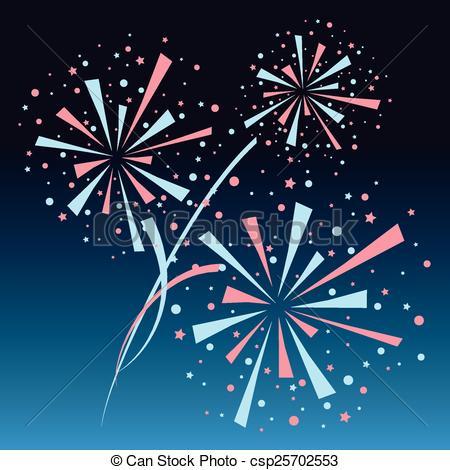 Fireworks clipart navy blue On background blue  eps10