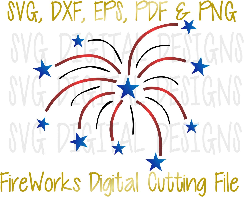Fireworks clipart navy blue Svg Patriotic File Clipart FireWorks