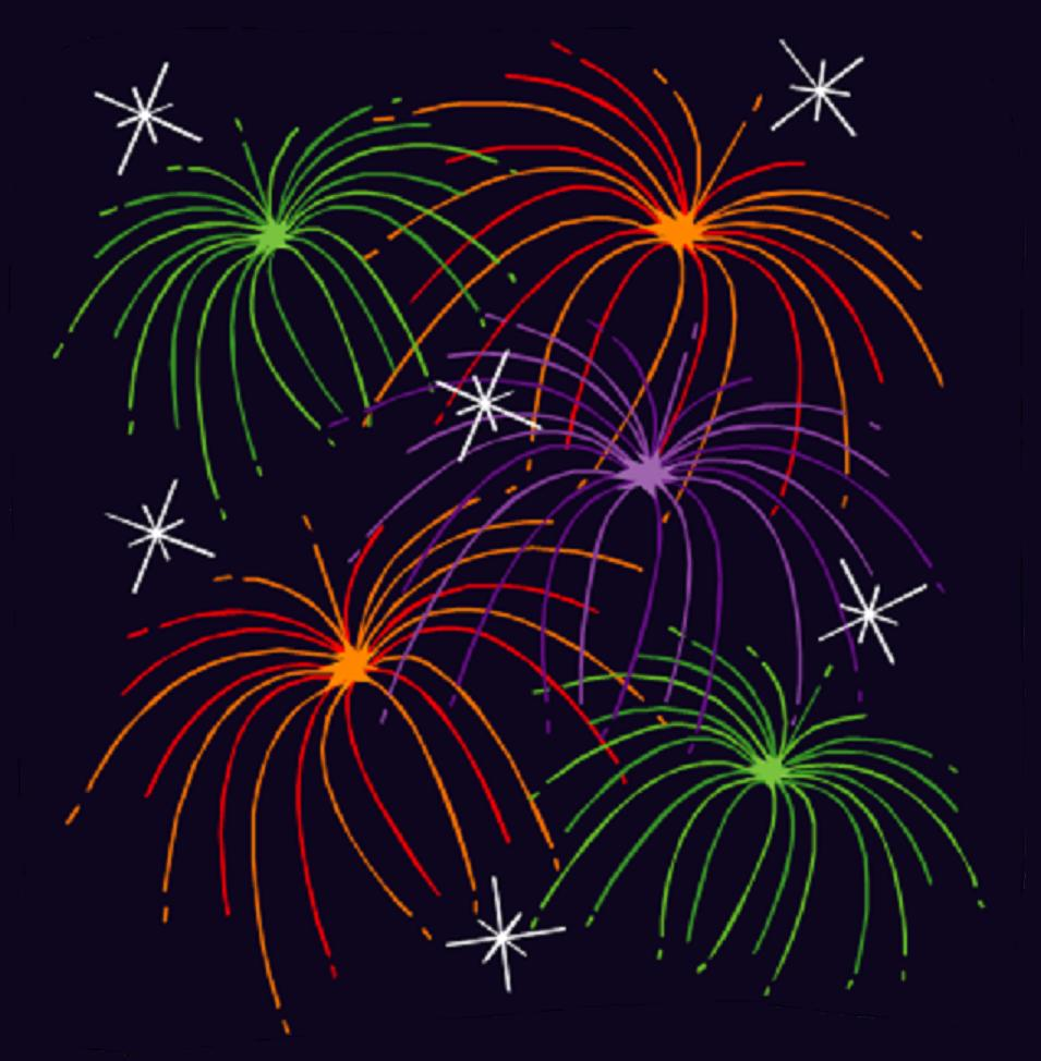 Fireworks clipart one Clipart Clipart Zombie Fireworks Animated