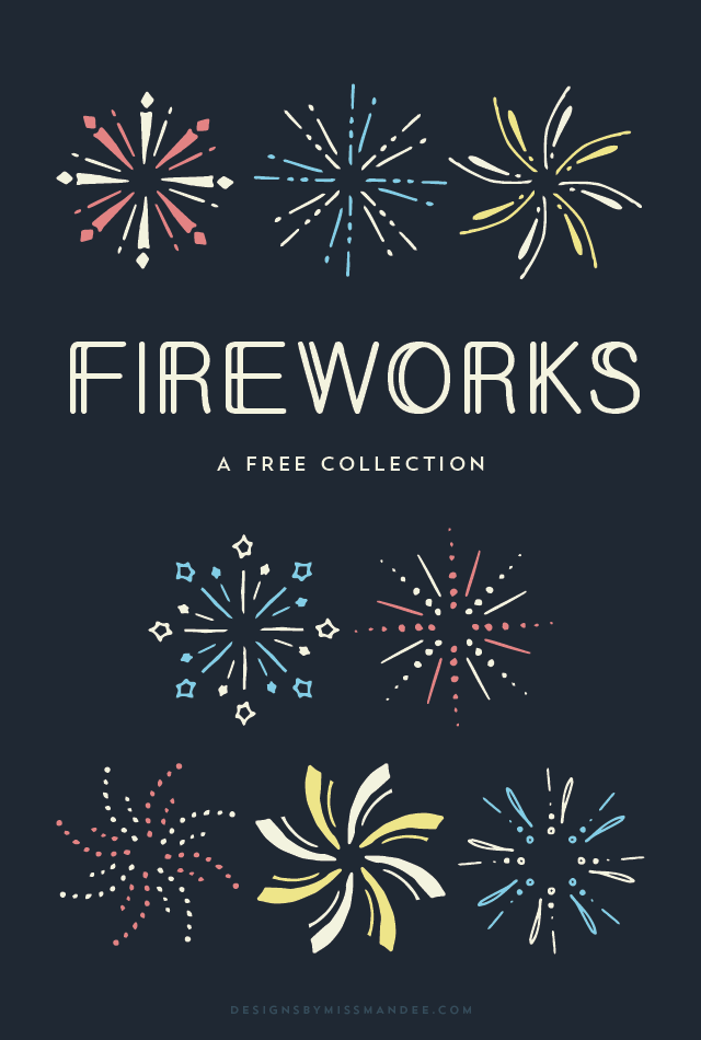 Fireworks clipart one Of Art By 4th Fireworks