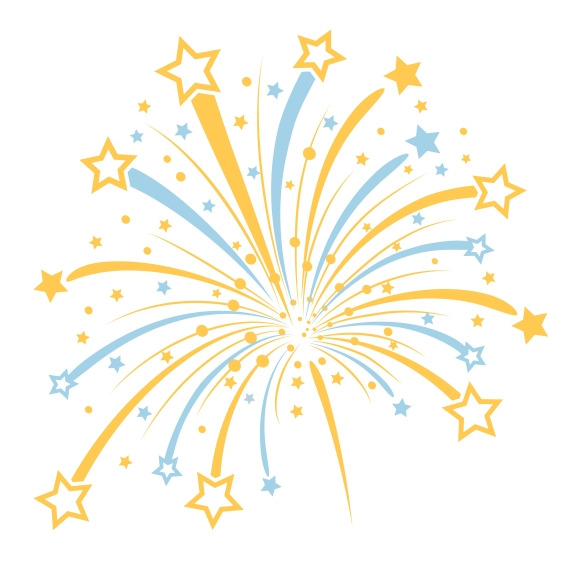 Fireworks clipart one  for White PowerPoint White