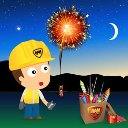 Fireworks clipart one A lighting firework time Safety