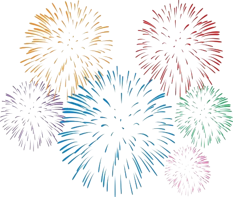 Fireworks clipart one To who aged read one