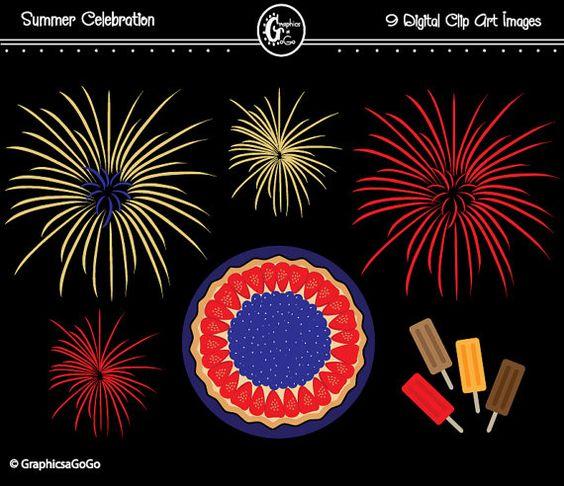Fireworks clipart pastel Clip Fireworks Fireworks Instant Summer