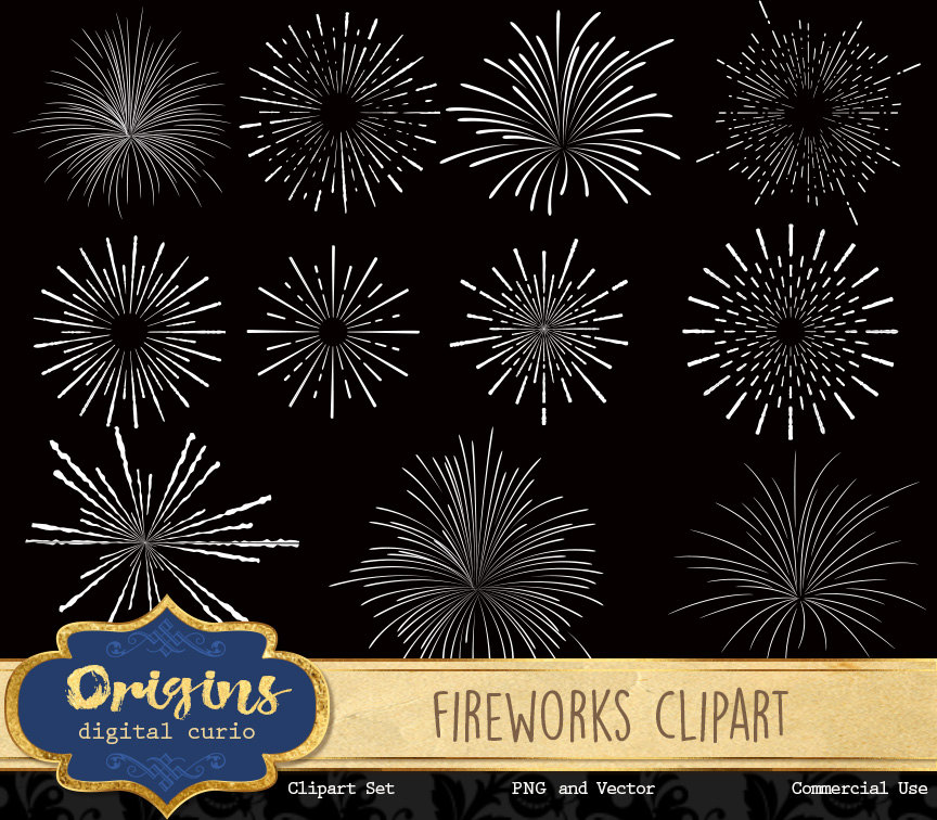 Fireworks clipart pastel Art  png vector digital