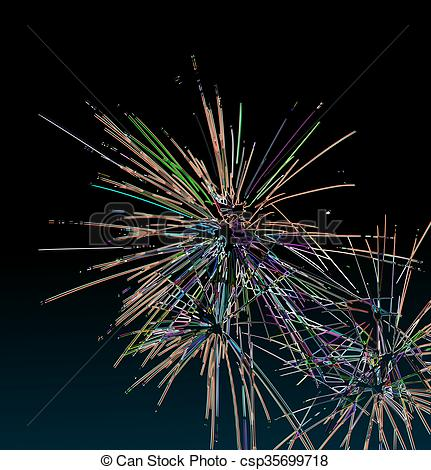 Fireworks clipart pastel Generated of black fireworks Abstract