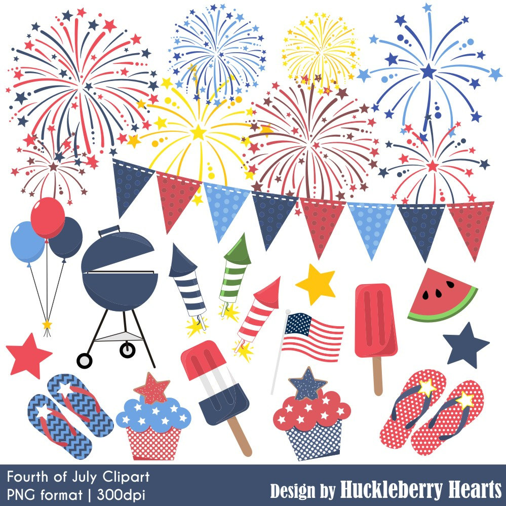 Fireworks clipart pastel Fireworks Clipart July of Fourth