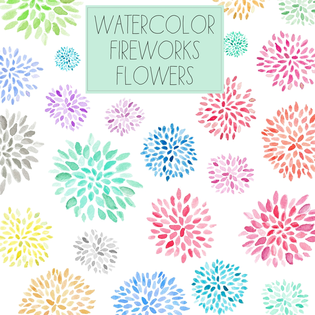 Fireworks clipart pastel Fireworks art Flower angiemakes com