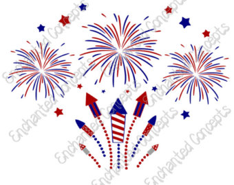 Fireworks clipart patriotic firework Png of svg 4th 5