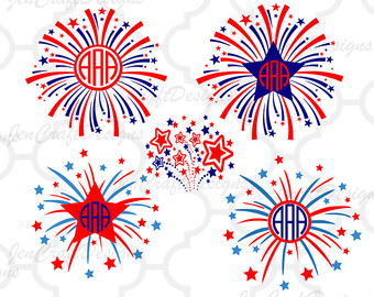 Fireworks clipart patriotic firework July 4th America Fireworks Patriotic