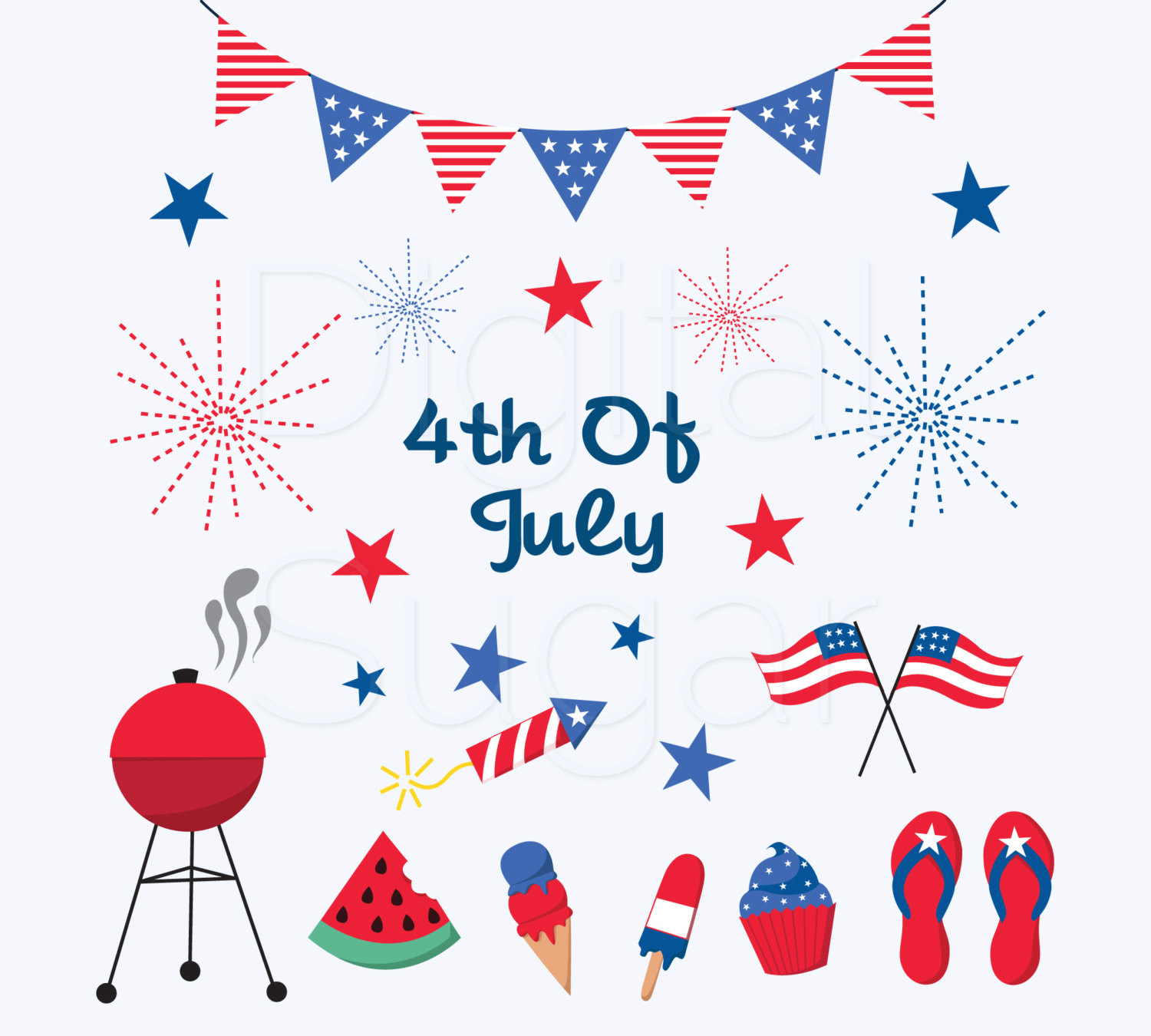 Fireworks clipart patriotic firework Art Clipart of July Independence