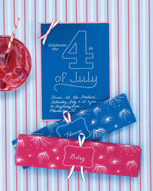 Fireworks clipart picnic Art on Cards Fourth art