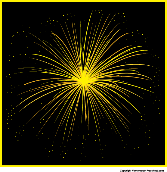 Yellow clipart firework Free Image Save Click Fireworks