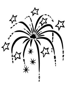 Fireworks clipart silhouette Let it Firework art drawing