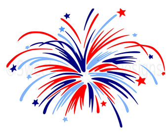 Fireworks clipart silhouette Fourth of design Etsy fireworks