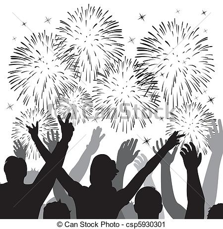 Fireworks clipart silhouette Vector Clip silhouettes fireworks of