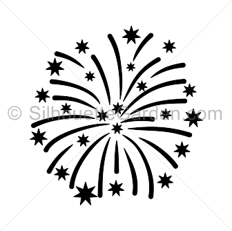 Fireworks clipart silhouette  clip art the in