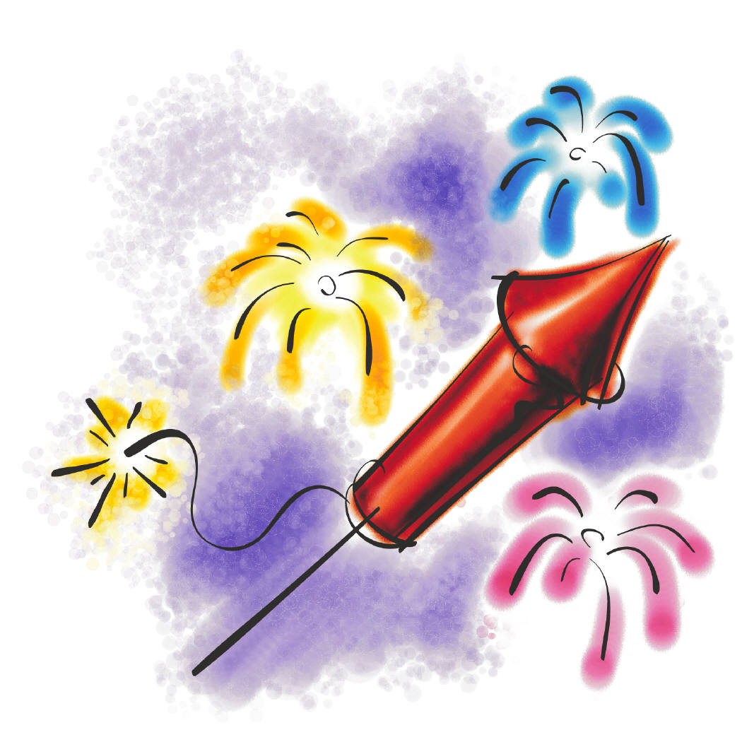 Celebration clipart firework rocket July Day Page an S