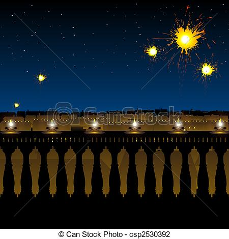 Lamps clipart hindu Stock  of festival and