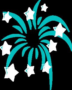 Fireworks clipart teal Art Clip clip art vector