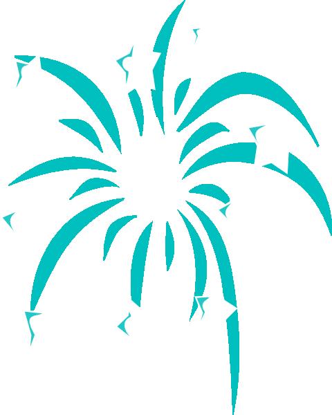 Fireworks clipart teal Art image clip art vector