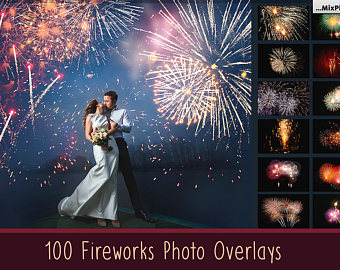 Fireworks clipart wedding Overlays fireworks sky photoshop wedding