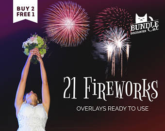 Fireworks clipart wedding Fireworks overlays Wedding Etsy Overlays