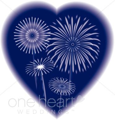 Fireworks clipart wedding Clipart Heart Fireworks Background Pink