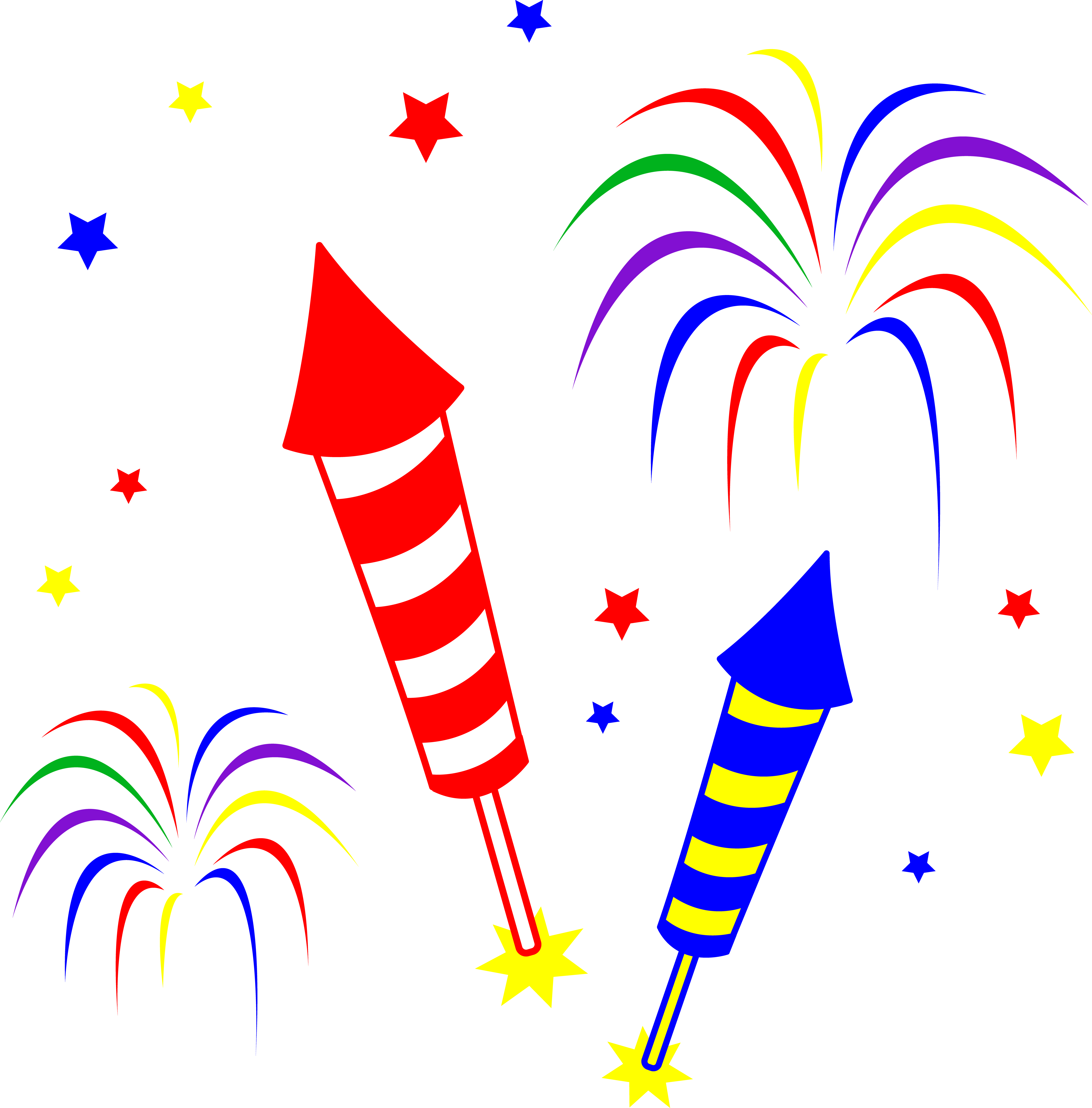 Rocket clipart animated Fireworks art Day Clip Of
