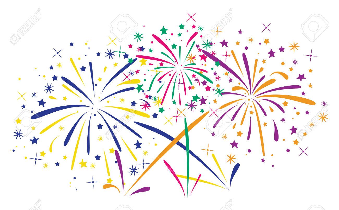 New Year clipart sparks Fireworks Fireworks Art white #6808