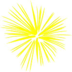Fireworks clipart yellow At  Art com Yellow