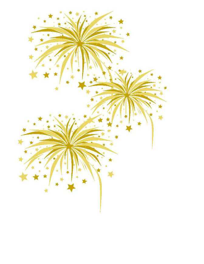 Fireworks clipart yellow Scores of on acknowledged members