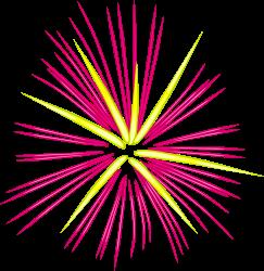 Fireworks clipart yellow Clip Fireworks ibytemedia Celebrate Clip