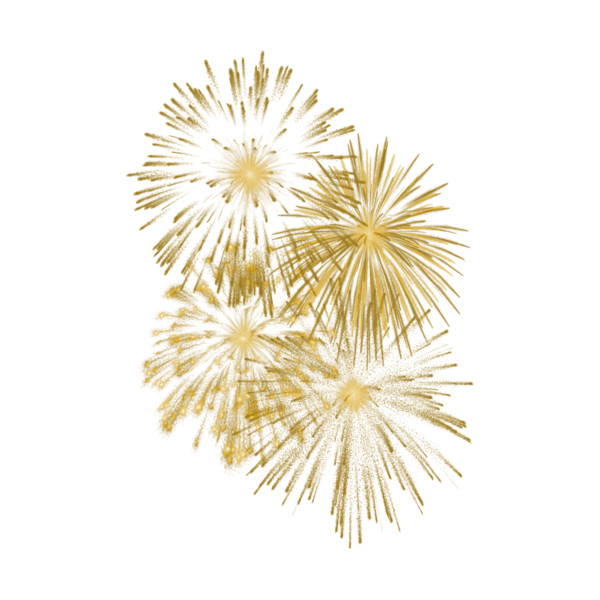 Fireworks clipart yellow  Polyvore July 4th on