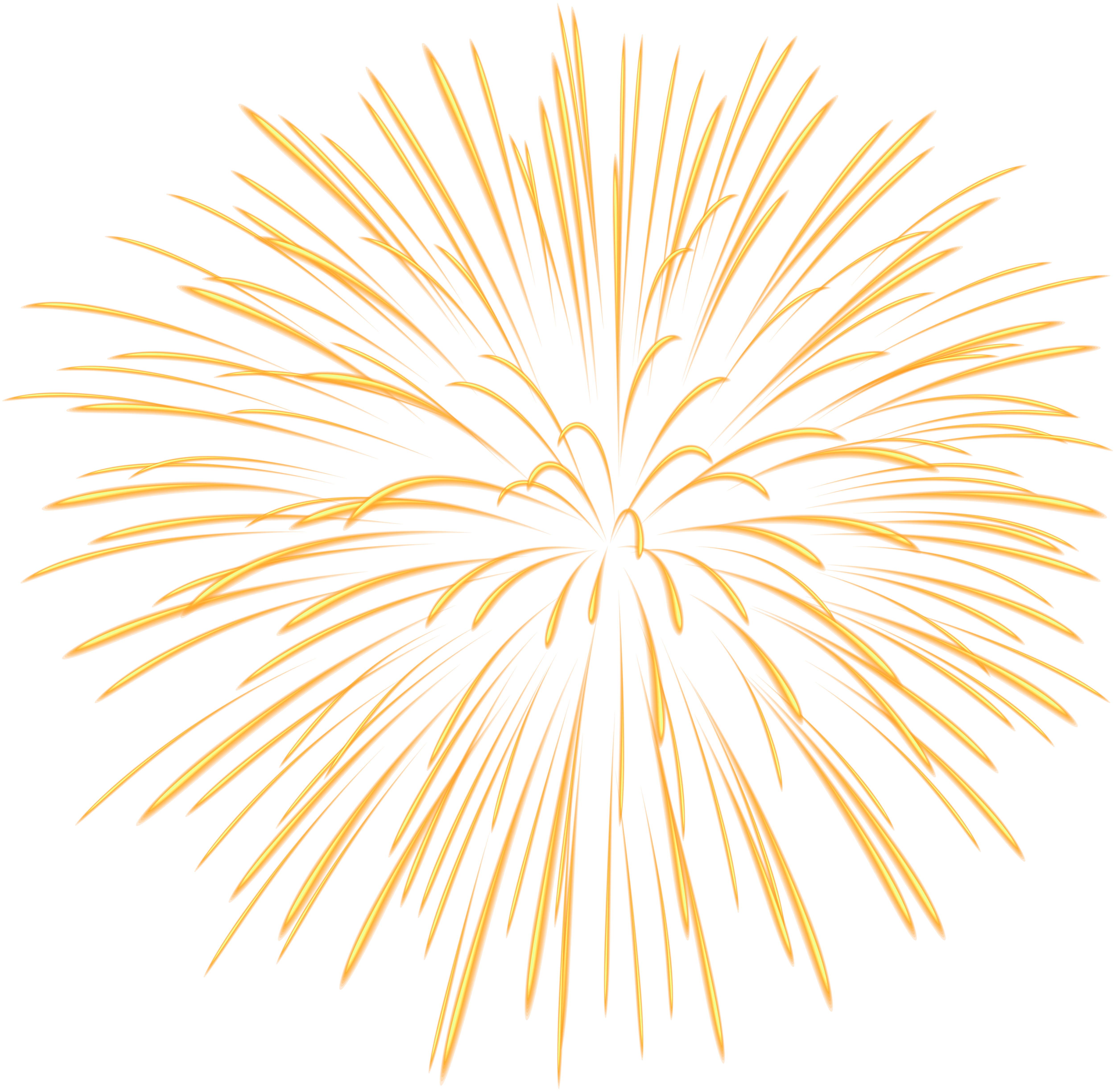 Fireworks clipart yellow  Yopriceville Transparent size Yellow