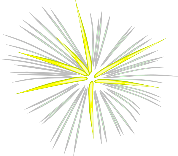 Fireworks clipart yellow Clker at vector Fireworks Gray