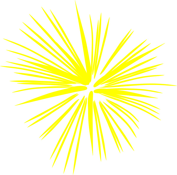 Fireworks clipart yellow Clker at vector Fireworks Large