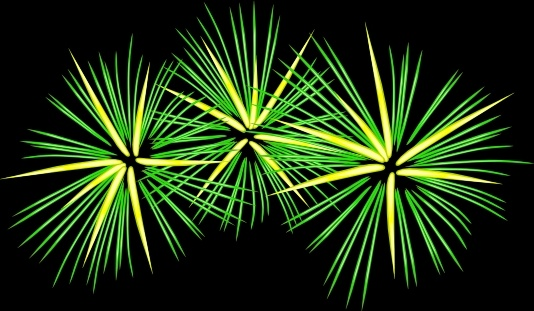 Fireworks clipart yellow Clip office Fireworks Free Green