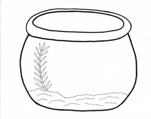 Line Art clipart fish bowl Bowl blank colorine clip net