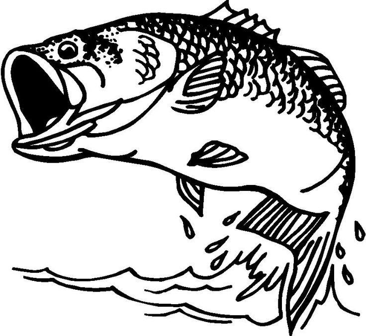 Fisherman clipart large fish Cliparting fishing black Black bass