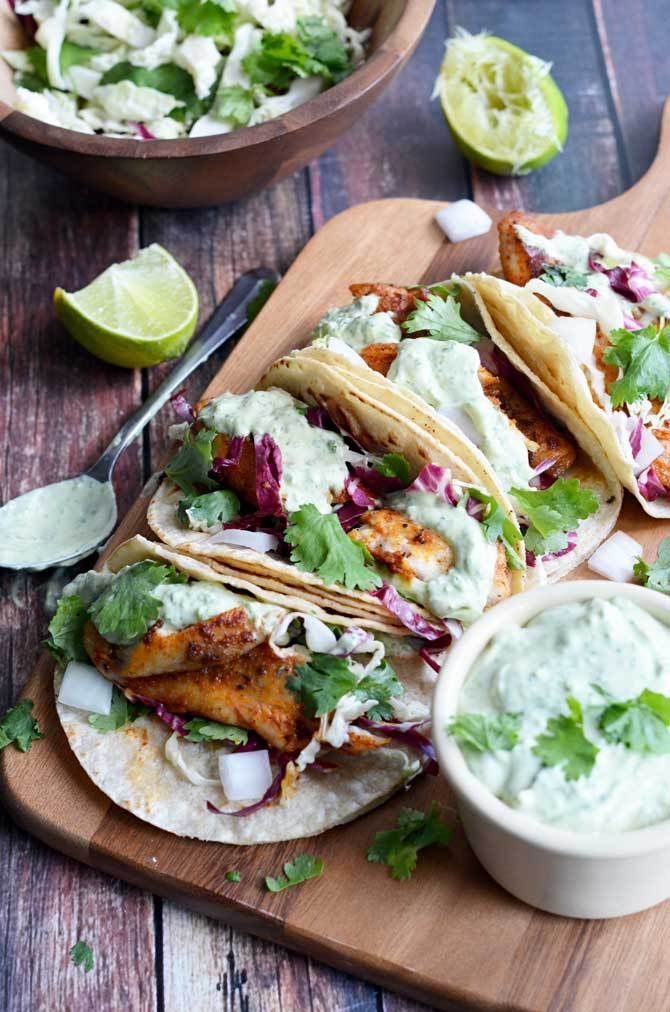 Fish Taco clipart taco bar Avocado Fish on Cilantro Pinterest
