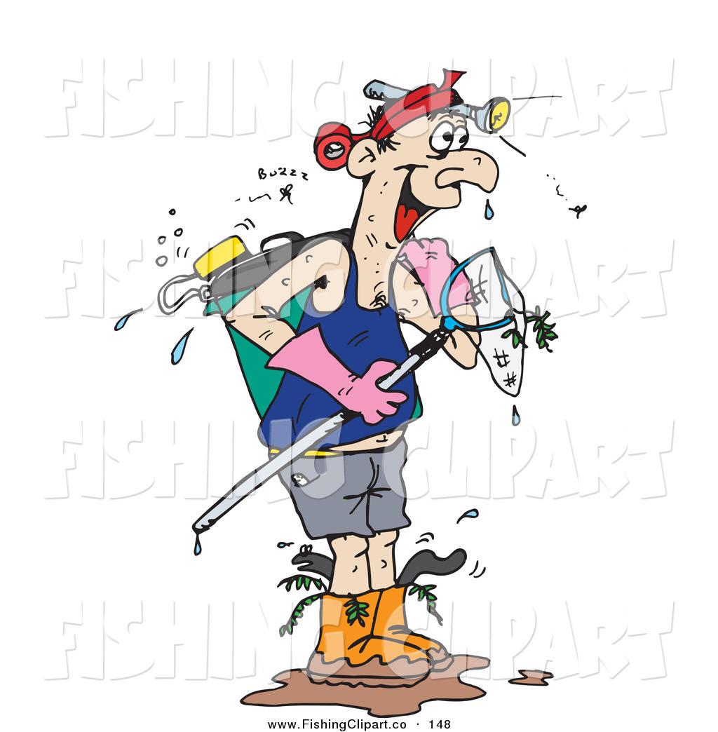 Fishing Net clipart guy fishing #1