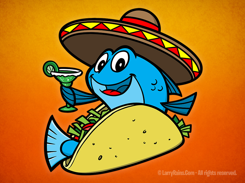 Fish Taco clipart Behance  Character on Fish
