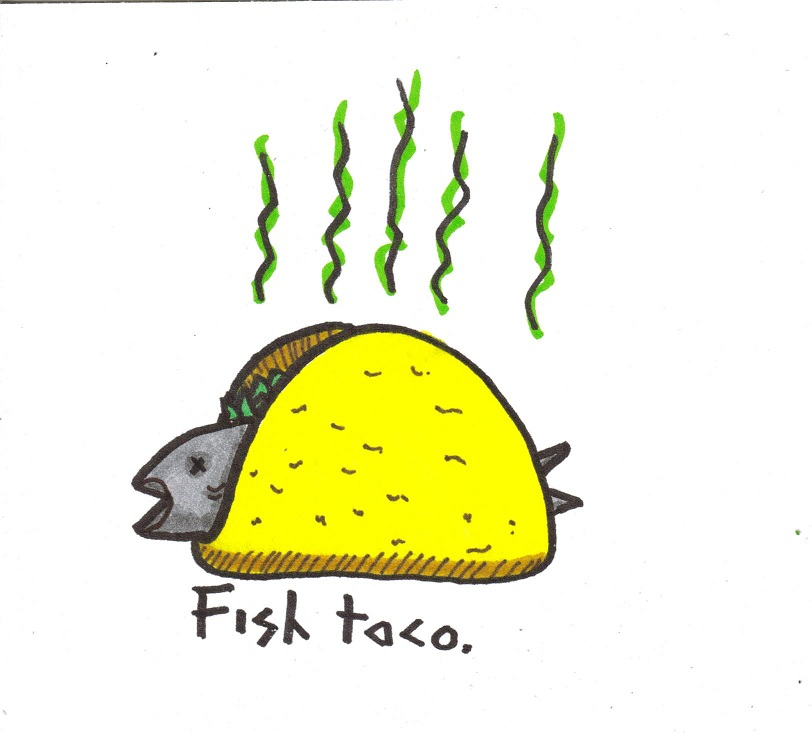 Fish Taco clipart  library Clip Fish UncleGuts