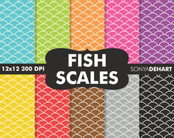 Fish Taco clipart fish scale Patterns Etsy Fish 80% Sale