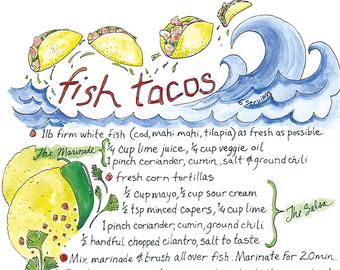 Fish Taco clipart fish scale Latina Fish Illustrated Tacos Art
