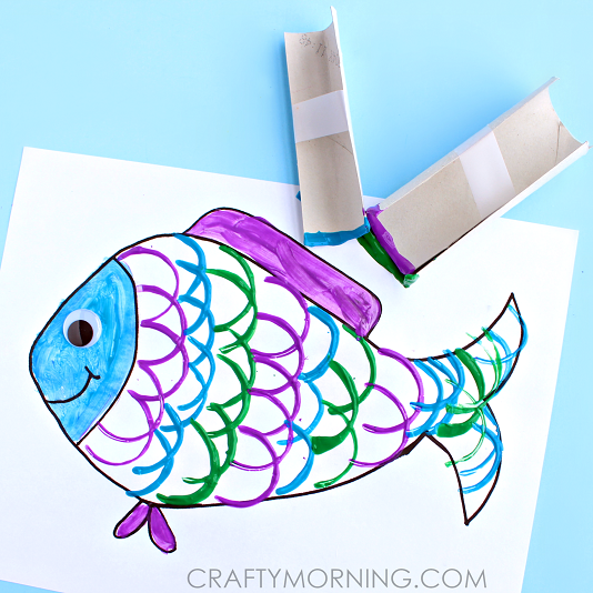 Fish Taco clipart fish scale (Kids Craft) kids toilet roll